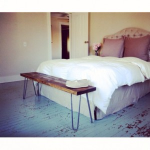 The Lee's Bench - Pine Wood Bench With Hairpin Legs