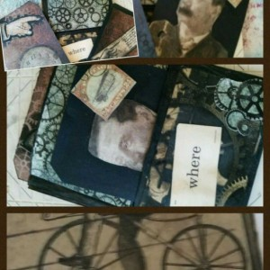 steampunk card and gift bag