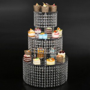 crystal Cupcake stand - Parties Supplies for a Baby Shower, Bridal Shower or Wedding 3 Tier made with high clarity genuine crystal shower
