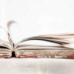 """Book Photography, Vintage Book Art, """"I Heart Books"""""""
