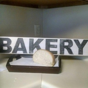 Hand painted wood Bakery Sign, distressed rustic wood sign for Kitchen or home decor.
