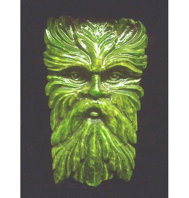 Wise Old Greenman Wall Hanging Celtic Home Decor Gothic Pagan Large Garden Forest Man Nature Face Green Big Tree Spirit Indoor Decor
