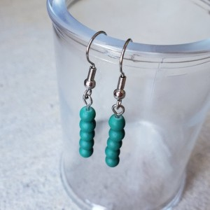 Gorgeous Teal Handmade Dangle Earrings