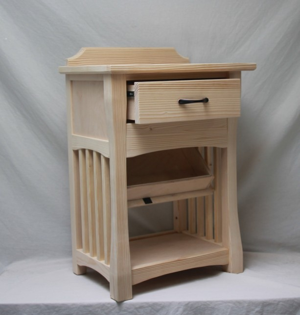 Bedside Nightstand with hidden compartment | aftcra