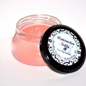 Watermelon Taffy 8oz 100% Soy Candle