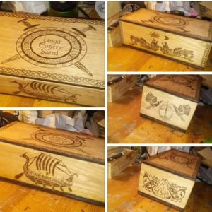 Handcarved Custom Urn with Norse Viking or Celtic Blessings