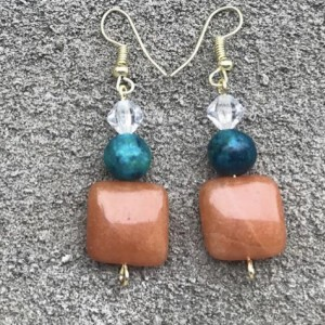 Caramel Dangling Earrings