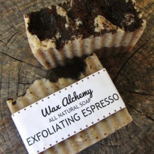 Exfoliating Coffee All Natural Soap / Two 5 oz Bars