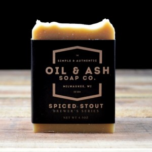 2 Pack-Spiced Stout Beer Soap, Cold Process Soap, Essential Oil Soap, Beer Soap, Exfoliant Soap, Handmade Soap, Barley Soap