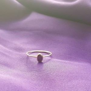 Amethyst gold filled ring