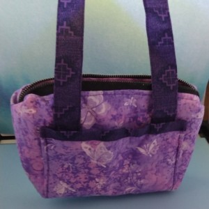 Little Girls Purses, Spring Purses with Flower, Gifts for Girls, Colorful Purses, Over the Shoulder Purse, Purple Butterfly Purse