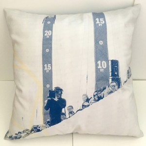 Blue and White Photorealism Pillow