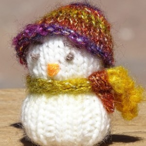 Knitted Snowman, Tree Ornament, Festive Decor, Christmas Decor