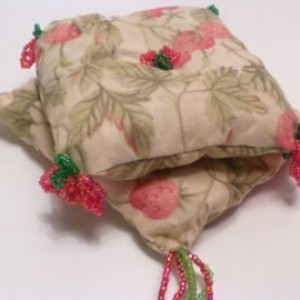 Victorian Sachets French Lavender Rosebud with Elegant Hand  Beading