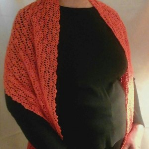 Lacey Pumpkin Wrap in Orange