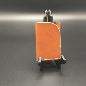 Hand Made Minimal Wallet - 2 Pocket - Business Card Case in Sedgwick Bridle Leather