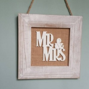 Mr and mrs wedding sign. Wall decor.