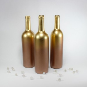 Gold Wedding Vases Set of 6 - Copper Gold Ombre Vases - Tall Vases - Table Decorations - Glam Wedding - Rustic Glam Wedding - Reception Table Decorations