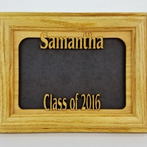 2016 2017 Graduation Personalized Name Centered Horizontal Picture Frame Matte 5X7