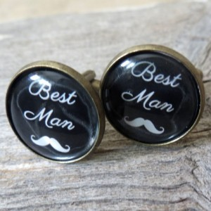 Groomsman Cufflinks - Best Man Cufflinks - Wedding Cufflinks - Cufflinks For Groomsmen - Wedding Day Cufflinks - Wedding Accessories