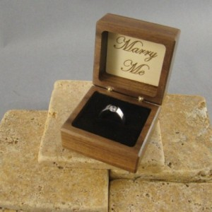 Engagement Ring Box with Will You Marry Me engraved.  Free Shipping and Engraving. RB39