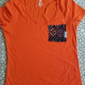 Orange Tribal Pocket