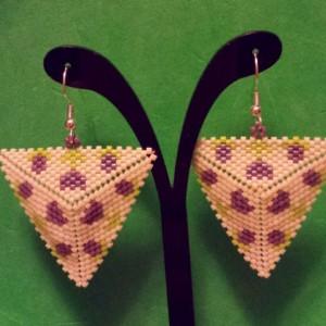 Tulip Peyote Triangle Earrings