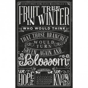 2014 Quotable Chalkboard Typography Wall Calendar