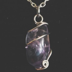 Wire wrapped Amethyst necklace