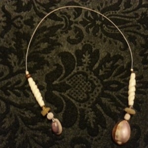 Brown and purple beaded book mark