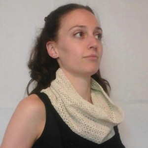 Lacey Infinity Cowl in Ecru