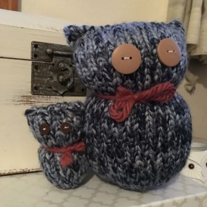 Parent/Child Owl Figurine