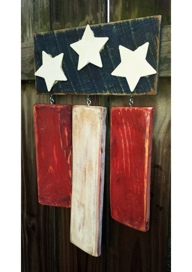 American Flag Pallet Wall Hanging American Flag Pallet