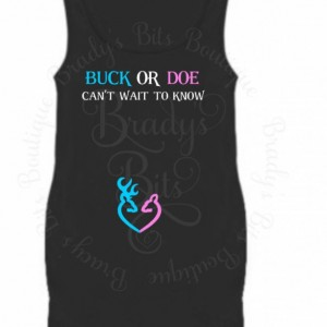 Gender Reveal Maternity Shirt Buck or Doe