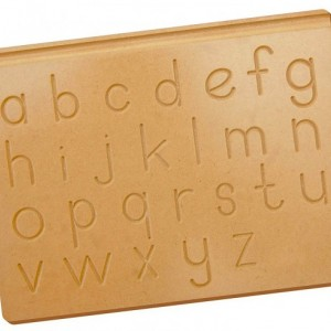 Montessori Wooden Tracing Board - Lowercase Letters - Montessori Toddlers English Learning - TB_LWR101