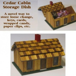 Cedar Cabin Storage Dish Christmas Children Gift Jewelry Box Sewing Money Candy