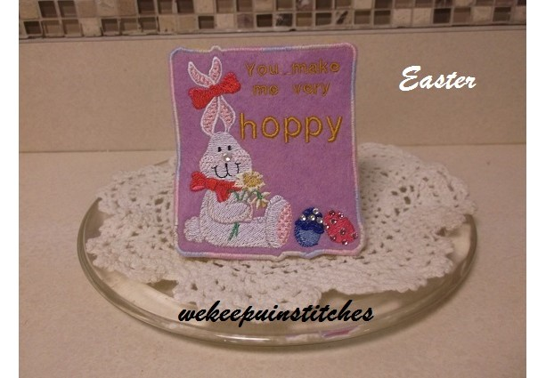 machine embroidered Easter