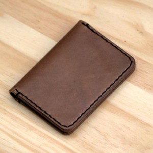Leather Card Wallet, Chromexcel Leather Card Holder, Horween Leather Slim Wallet, Minimalistic Leather Wallet, Natural Chromexcel Bifold