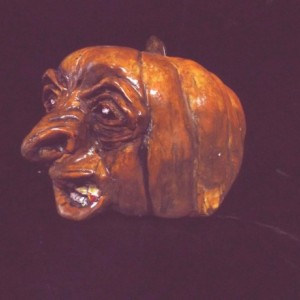 Halloween Pumpkin Head Draculantern Rotten Gothic Fangs Pumpkin Of Doom Statue Macabre Morbid Creepy Orange Gothic Spooky Prop Horror Decor