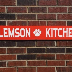Custom Clemson kitchen sign, personalized sign, wood sign art