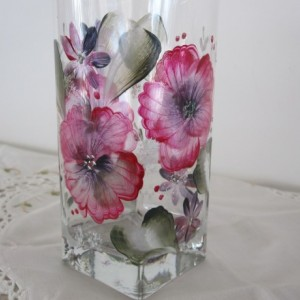 Highball Glasses set of four hand painted