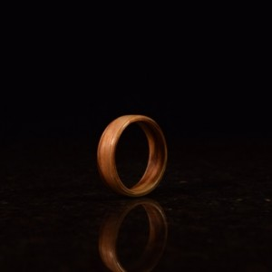 Ready to ship size 10.5 ( Bentwood Method ) Zebrawood wooden ring
