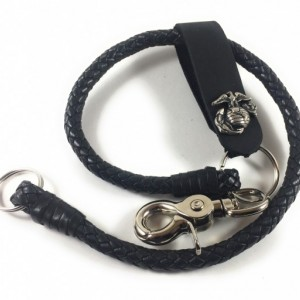 "18"" Braided Leather Chain, Key FOB, Keychain, Key Chain, Wallet Chains,  Chain Wallet, Leather Wallet Chain, Made in USA"