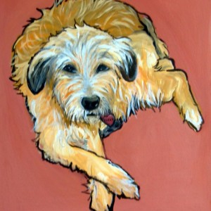 DOG Print- Rescued Dog - FOZZY - Signed by Artist A.V.Apostle