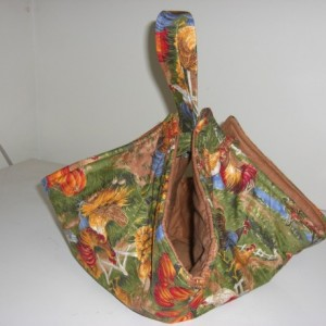 Sunflowers and Roosters Casserole Carrier Tote
