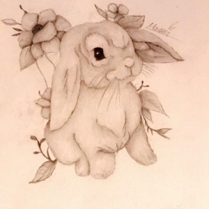 9x12 bunny illustration