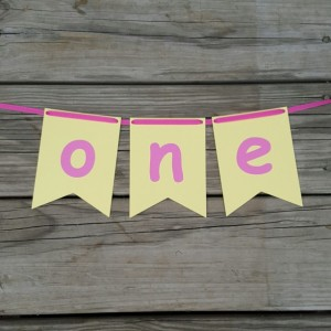 Lemonade One Banner, one high chair banner, yellow and pink, Lemonade banner, Lemonade first birthday