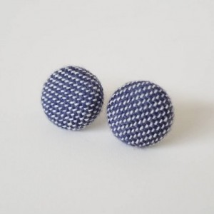Recycled Textile Earrings - Wisteria Blue