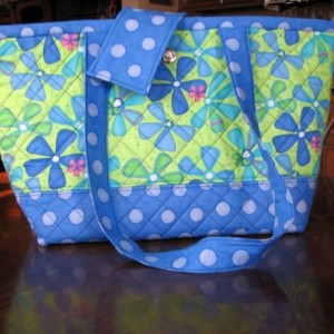 Color Me Floral Lime green Modern tote handbag