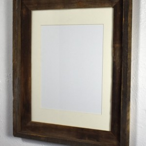 Picture frame 8x10 off white mat 8x12, 8.5x11, 9x12 or custom mat